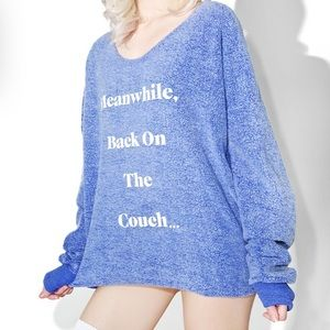 Wildfox couture veg forever couch sweatshirt XS